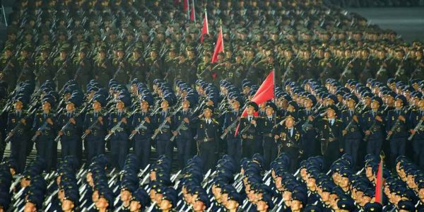 North Korea holds paramilitary parade to mark its 73rd anniversary (Pictures)