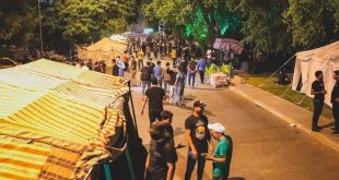 Sit-in tents near Baghdad's Green Zone to protest the election results (Pictures)
