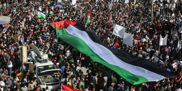 In pictures | Thousands march in the stand of solidarity with the Palestinian people in Iraq