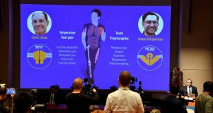 Two win Nobel Prize in medicine for discoveries on how we react to touch, heat