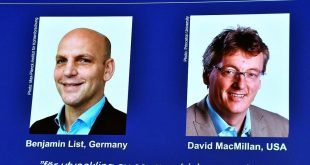 List and MacMillan win Nobel Chemistry Prize for work on 'molecule building'